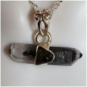 Genuine, All Natural Herkimer Diamond Pendant